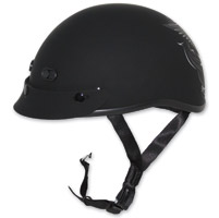 Zox Nano Custom Liberty Gloss Black and Silver Half Helmet