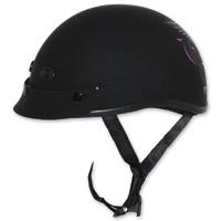 Zox Nano Custom Liberty Gloss Black and Pink Half Helmet