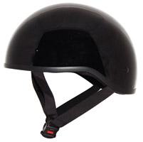 Zox Nano Old School Gloss Black Half Helmet