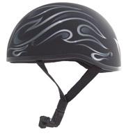 Zox Nano Old School Flame Matte Black Half Helmet