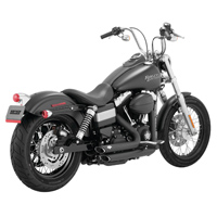 Vance & Hines Shortshots Staggered Black
