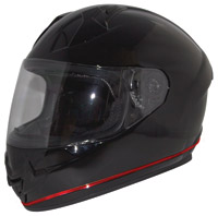 Zox Primo Lite Gloss Black Full Face Helmet with LED Strip Light