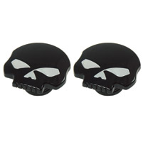 J&P Cycles® Black Skull Gas Cap Set