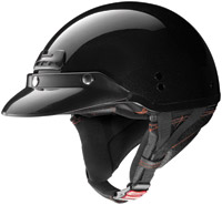 Nolan Super Cruise Metallic Black Half Helmet