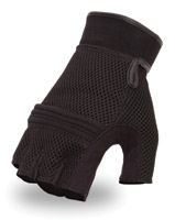 First Manufacturing Co. Black Mesh Fingerless Gloves