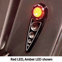 Battistinis Red LED with Smoke Lens Black Rear Turn Signals