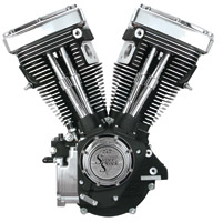 S&S Cycle V80 V Series Wrinkle Black Engine