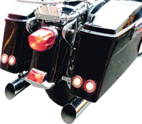 Saddlemen LED Saddlebag Marker Signal Lights With Stainless Trim Ring
