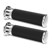 Arlen Ness Chrome Fusion Deep Cut Grips for TBW Models