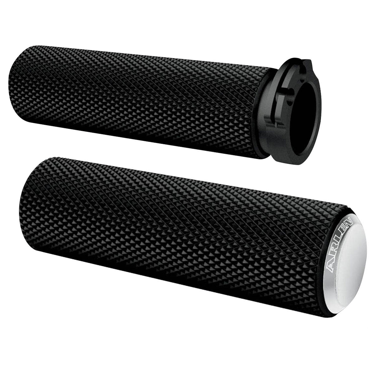 Arlen Ness Chrome Knurled Fusion Series Grips