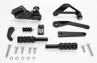 Jaybrake Classic Solid Black Forward Control for Dyna Glide