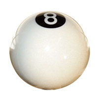 Accutronix White 8-Ball Shifter Ball