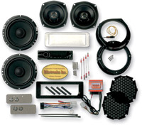 Biketronics Titan II Turnkey Sony CDX Radio 4-Speaker Kit