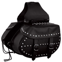 First Manufacturing Co. Studded Throwover Saddlebags
