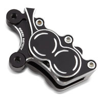 Arlen Ness Black Left Front Brake Caliper Housing for Touring Models
