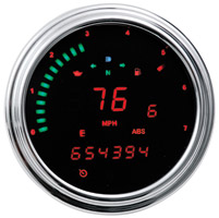 Dakota Digital 2000 Series Fatbob Gauge Replacement with Red LED