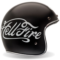 Bell Custom 500 Hellfire Black Open Face Helmet