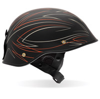 Bell Drifter DLX Pin Stripe Black and Red Half Helmet