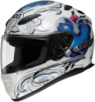 Shoei RF-1100 Corazon White and Blue Full Face Helmet