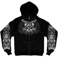 Hot Leathers Ride or Die Zip-Up Hoodie