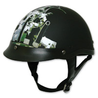 HCI-100 Battle Ship Matte Black Half Helmet