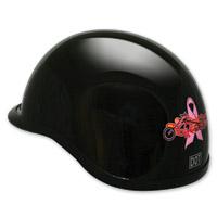 HCI-105 Pink Ribbon Black Half Helmet