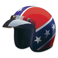 HCI-10 Rebel Red, White and Blue Open Face Helmet