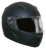 HCI-75 Matte Black Full Face Helmet