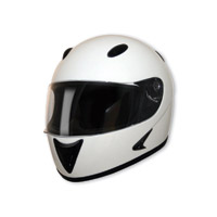 HCI-75 White Full Face Helmet