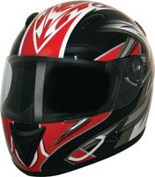 HCI-75 Blade Red Full Face Helmet