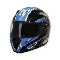 HCI-75 Blade Blue Full Face Helmet
