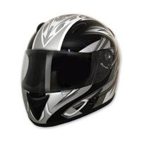 HCI-75 Blade Silver Full Face Helmet