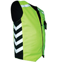 Missing Link Hi-Vis Green Reversible Military Duty Safety Vest