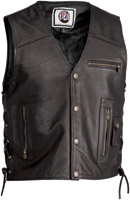 River Road Grateful Dead Color Logo Leather Vest