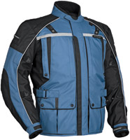 Tour Master Men's Steel Blue and Black Transition Series 3 Jacket