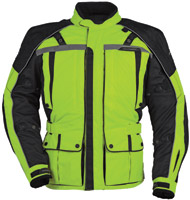 Tour Master Men's Hi-Vis Yellow and Black Transition Series 3 Jacket