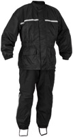 River Road Black High-N-Dry 2-Piece Rain Suit