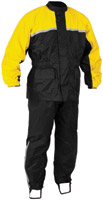 River Road Black and Yellow High-N-Dry 2-Piece Rainsuit