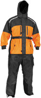 River Road Black and Orange Tempest 2-Piece Rain Suit