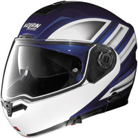 Nolan N104 Voyage Blue, White and Black Modular Helmet
