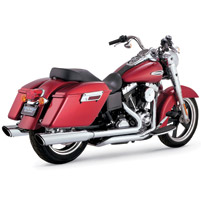 Vance & Hines Twin Slash Slip Ons with Full Duals Head Pipe Exhaust