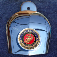 Motordog69 Horn Cover Coin Mount with Veteran Marine Coin