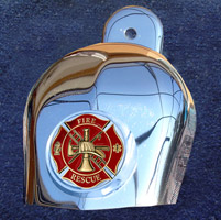 Motordog69 Horn Cover Coin Mount with Fire Rescue Coin