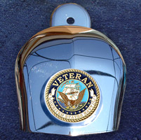 Motordog69 Crown Horn Cover Attachment with Veteran Navy Coin