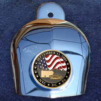 Motordog69 Horn Cover Coin Mount with September 11th Coin