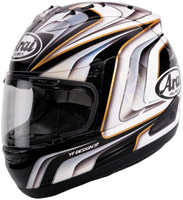 Arai Corsair V Aoyama 3 White and Black Full Face Helmet