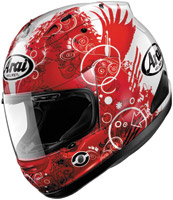 Arai Corsair V Fiction Red Full Face Helmet