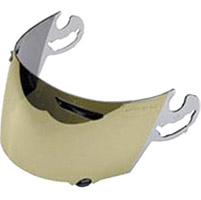 Arai Gold Mirror Replacement Faceshield for Vector 2, Defiant and Defiant Pro-Cruise Helmets