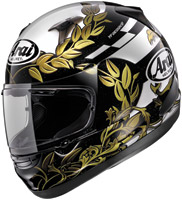 Arai Signet-Q Laurel Black and White Full Face Helmet