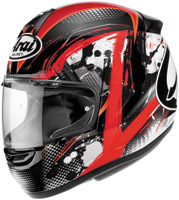 Arai RX-Q Deco Red and Black Full Face Helmet